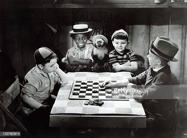 George McFarland as Spanky Billie Thomas as Buckwheat Eugene Lee as Porky and Carl Switzer as Alfalfa in one of the Our Gang comedies later to be...