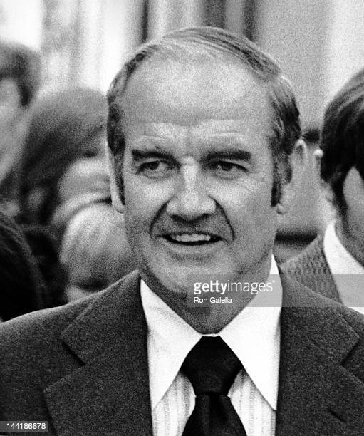 George McGovern attends Kathleen KennedyDavid Townsend Wedding Reception on November 17 1973 at Ethel Kennedy's home in McLean Virginia