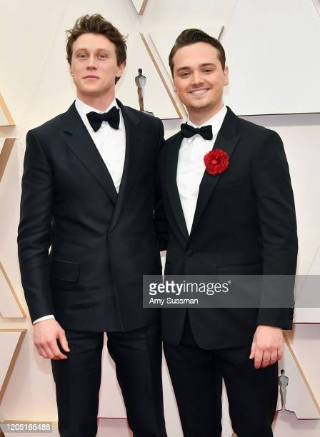 George McKay and DeanCharles Chapman attend the 92nd Annual Academy Awards at Hollywood and Highland on February 09 2020 in Hollywood California