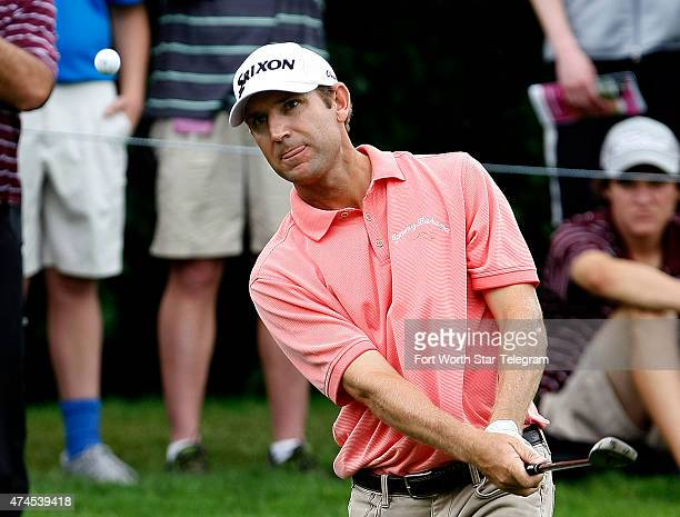 George McNeill hits a chip shot on the 16th hole during the third round of the Crowne Plaza Invitational at the Colonial in Fort Worth, Texas, on...