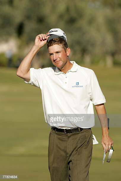 George McNeill takes his cap off after winning the the Fryscom Open benefiting Shriners Hospitals for Children at TPC Summerlin October 14 2007 in...