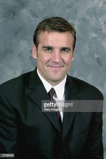 George McPhee of the Washington Capitals poses for a portrait on September 15 2003 at MCI Center in Washington DC