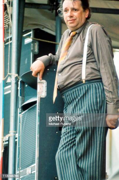 George Melly performs on stage at Reading Festival 25th August 1974