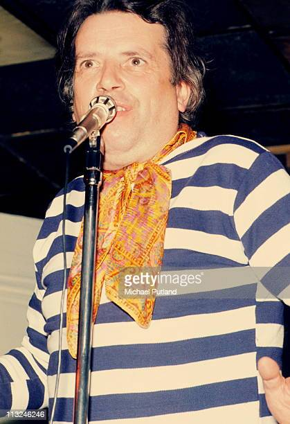 George Melly performs on stage in London on 6th December 1973