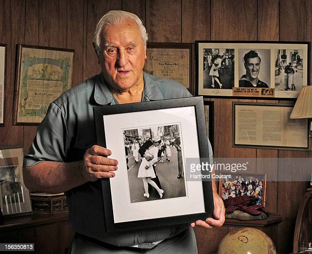 George Mendonsa holds one of the most iconic photographs of the 20th century at his Middletown Rhode Island home October 23 2012 In the photograph...