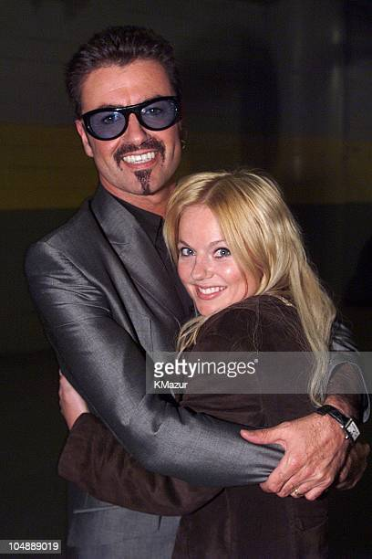 George Michael and Geri Halliwell during Equality Rocks Concert at RFK Stadium April 29 2000 at RFK Stadium in Washington DC United States