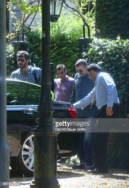 George Michael and his boyfriend Fadi Fawaz are seen on July 29 2012 in London United Kingdom