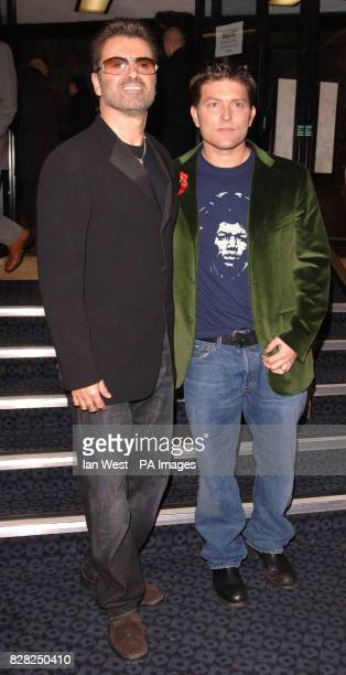 George Michael and Kenny Goss at the VIP preview screening of 'A Different Story' a documentary about George Michael's life at the Curzon Mayfair...