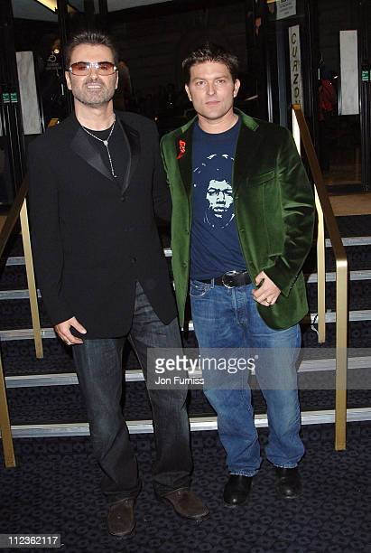"""George Michael and Kenny Goss during George Michael's """"A Different Story"""" Gala London Screening - Inside at Curzon Mayfair in London, Great Britain."""
