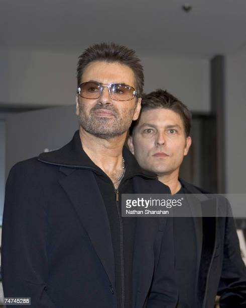 George Michael and partner Kenny Goss at the Bunkamura in Tokyo Japan
