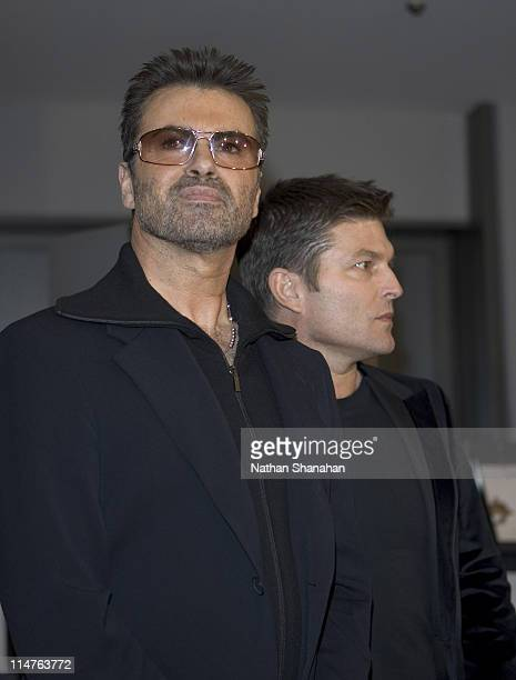 George Michael and partner Kenny Goss during George Michael A Different Story'' Tokyo Premiere at Bunkamura in Tokyo Japan