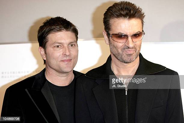 George Michael and partner Kenny Goss