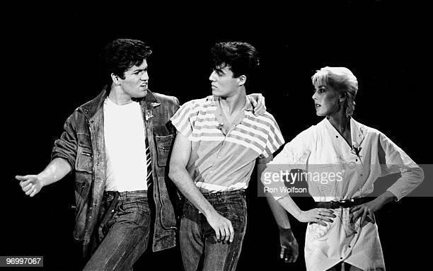 George Michael Andre Ridgeley of Wham perform on the TV Show Solid Gold in their first American TV appearance