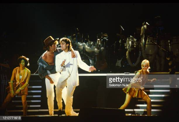 George Michael Andrew Ridgeley Shirlie Holliman Helen DeMacque Wham 23–24 December 1984 Wembley Arena