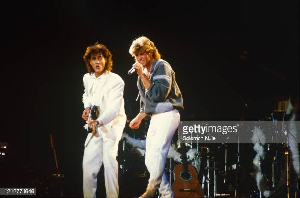 George Michael, Andrew Ridgeley, Wham! 23–24 December 1984, Wembley Arena.