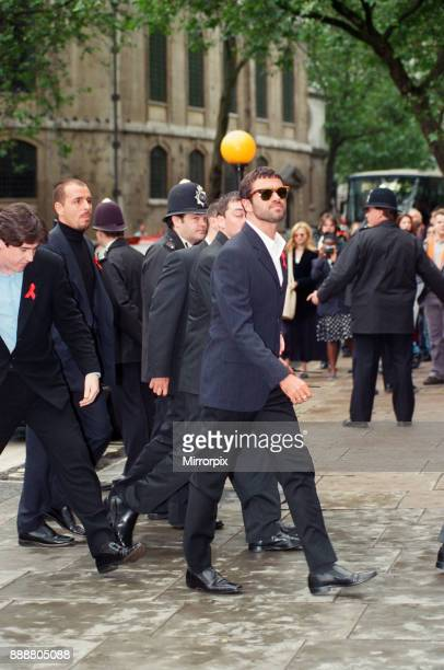George Michael arriving at the High Court, during his failed court battle to be released from his Sony record contract, 21st June 1994.