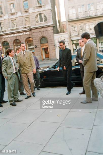 George Michael arriving at the Law Courts for his legal battle with Sony, 18th October 1993.