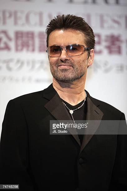George Michael at the George Michael A Different Story Tokyo Press Conference at Cerulean Tower Tokyu Hotel in Tokyo Tokyo