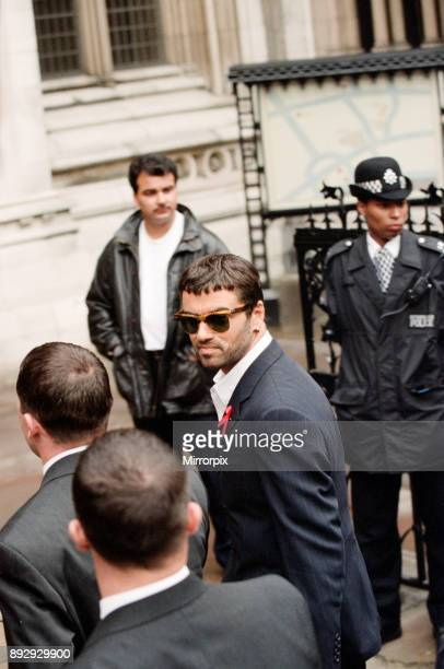 George Michael at the High Court during his failed court battle to be released from his Sony record contract Pictured on the day a High Court judge...