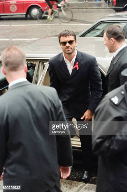 George Michael at the High Court, during his failed court battle to be released from his Sony record contract. Pictured on the day a High Court judge...