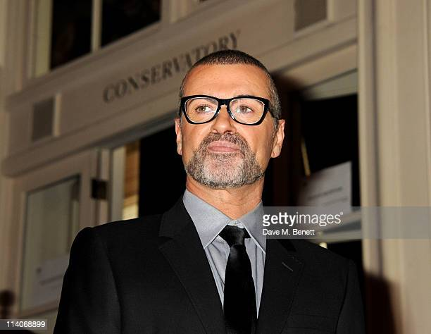 "George Michael attends a press conference to announce details of a new tour, ""Symphonica"" at The Royal Opera House on May 11, 2011 in London, England."