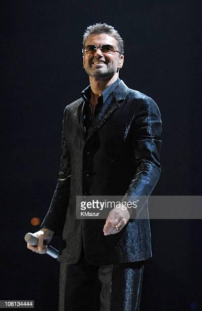 George Michael during George Michael '25 Live' Tour Opener in Barcelona at Palau Sant Jordi in Barcelona Spain