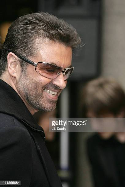 George Michael during Versace Hosts a Private Party for 'George Michael A Different Story'' December 15 2005 at Cafe Les Deux Magots Paris in Tokyo...