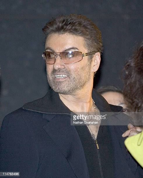 George Michael during Versace Hosts a Private Party for George Michael A Different Story'' December 15 2005 at Cafe Les Deux Magots Paris in Tokyo...