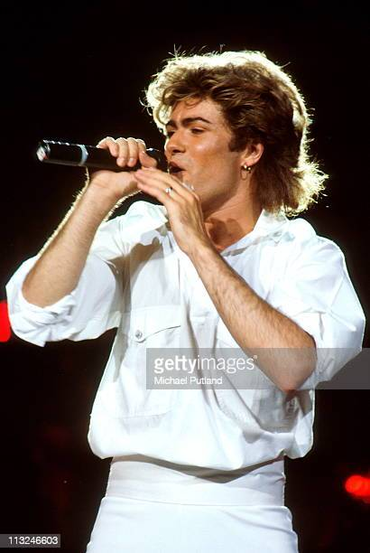 George Michael of Wham performs on stage Sydney Australia January 1985