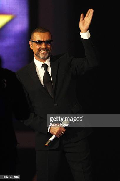 George Michael onstage at The Brit Awards 2012 at The O2 Arena on February 21 2012 in London England