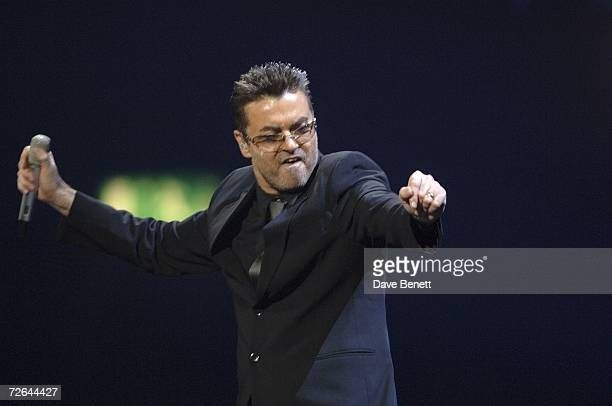 George Michael performs at Earls Court on November 25 2006 in London England