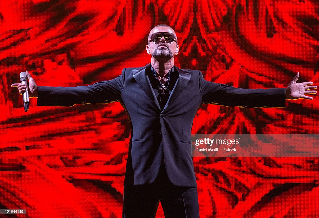 George Michael performs at Palais Garnier on September 9, 2012 in Paris, France.