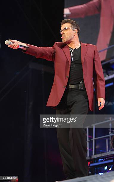 George Michael performs at Wembley Stadium on June 9 2007 in London England