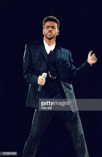 George Michael performs on stage at the 'Concert Of Hope' in Wembley Arena on December 1st 1993 in London England