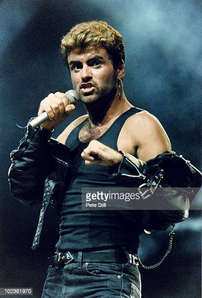 George Michael performs on stage on his 'Faith' tour, at Earls Court Arena on June 15th, 1988 in London, England.