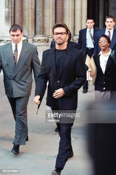 George Michael pictured at the Law Courts for his legal battle with Sony, 18th October 1993.