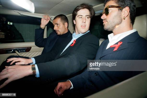 George Michael pictured in a car during his failed court battle to be released from his Sony record contract 21st June 1994