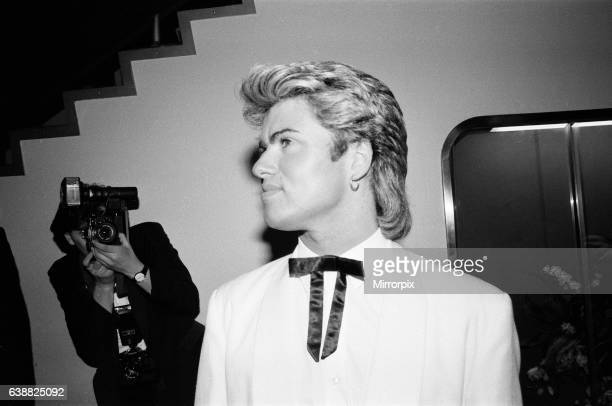George Michael singer pictured at the British Phonographic Industry BPI Awards aka Brit Awards at Grosvenor House London 12th February 1985 He...