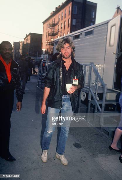 George Michael with security circa 1970 New York