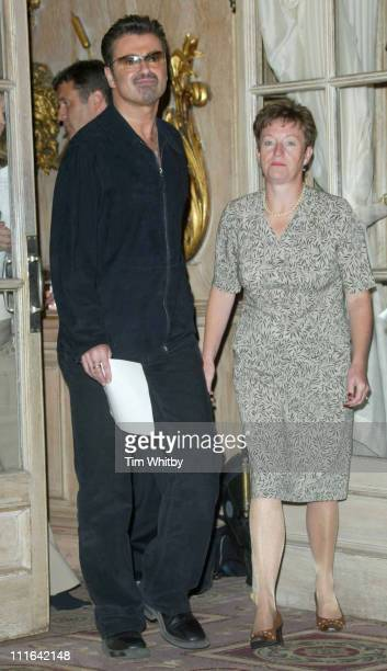 George Michael with the charities founder Bernadette Cleary
