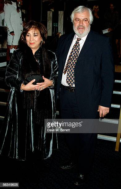 George Michael's father Jack Panos and guest arrive at the VIP preview screening of A Different Story a documentary based on singer George Michael's...