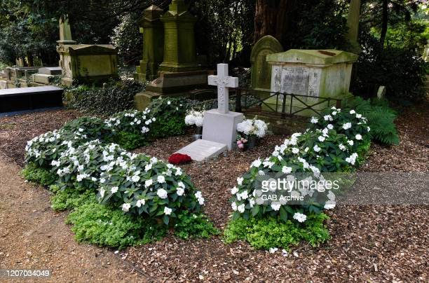 George Michael's grave in Highgate Cemetery London 2019