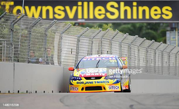 George Miedecke drives the Bob Jane TMarts/Sitech Ford during race 2 of the Dunlop Series at Reid Park on July 8 2012 in Townsville Australia