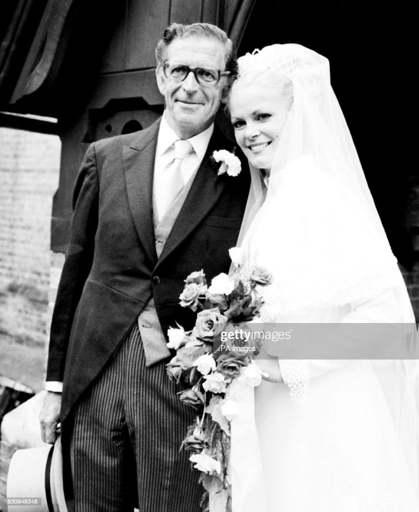 George mitchell with bride dorothy