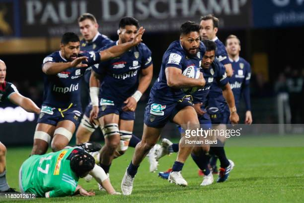 George MOALA of Clermont during the European Rugby Champions Cup, Pool 3 match between ASM Clermont Auvergne and Harlequin FC on November 16, 2019 in...