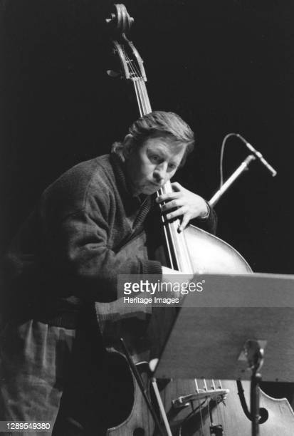 George Mraz, North Sea Jazz Festival, The Hague, Netherlands, 1992. Artist Brian Foskett.