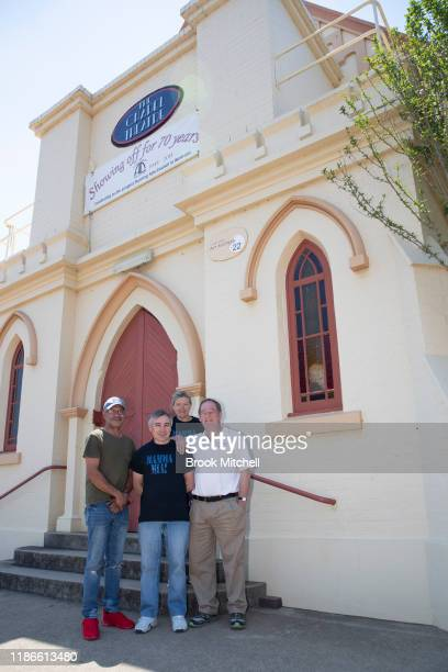 George Muckenschnabel Colin Woods Suzy Woods and Nigel Brown and of the Glenn Innes Arts Council are pictured outside the local theatre in Glen Innes...