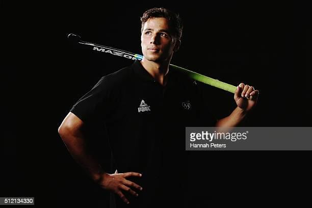 George Muir of the New Zealand Men's Hockey team poses for a portrait at QBE Stadium on February 13 2016 in Auckland New Zealand