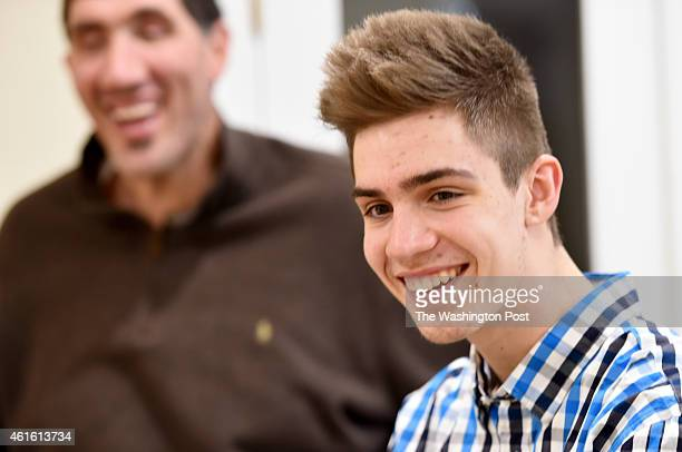 George Muresan the son of former Washington Bullets center Gheorghe Muresan at home on January 8 2015 in Potomac MD