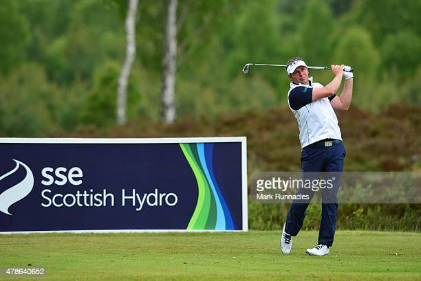 George Murray of Scotland in action on the 10th tee during the second round of the 2015 SSE Scottish Hydro Challenge at the MacDonald Spey Valley...